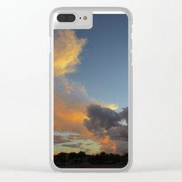 Fiery Sky Clear iPhone Case