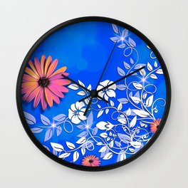 Fantasy Flowers Wall Clock