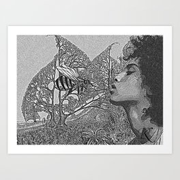 Honey Lover Art Print