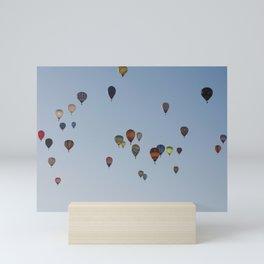 Balloons in the sky Mini Art Print