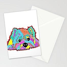 Cotton Candy Dots Westie West Highland Dog Pet Terrier Scottish Scotland Cairn Border Glen Fox Kerry Stationery Cards