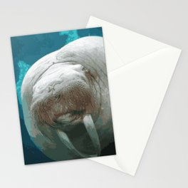 Walrus face to face Stationery Cards