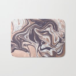 Liquid Rose Gold Violet and Marble Bath Mat