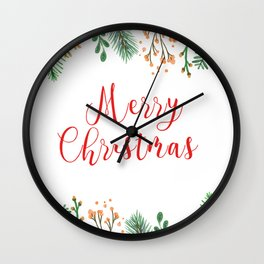 Merry Chritmas #society6 Wall Clock