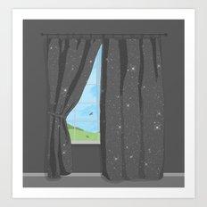 The evening (night) curtain DARK Art Print