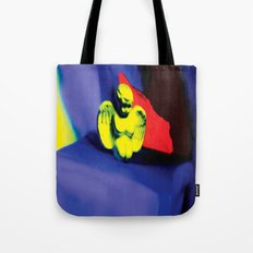 Lamentation in Blue, Yellow, and Orange Tote Bag