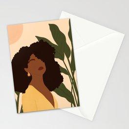 Black Woman Boho Portrait  Stationery Cards