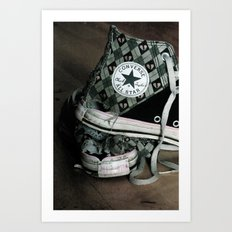 Worn Out Chucks Art Print
