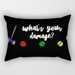 What's Your Damage Rectangular Pillow