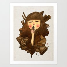 Chocoholic Art Print