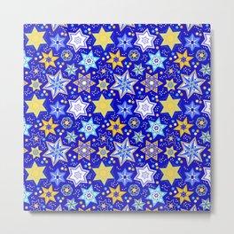 Embellished Stars of David Metal Print