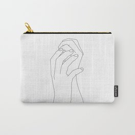 Hands line drawing illustration - Adra Carry-All Pouch