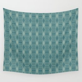 hopscotch-hex navajo Wall Tapestry