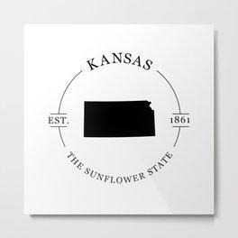Kansas - The Sunflower State Metal Print