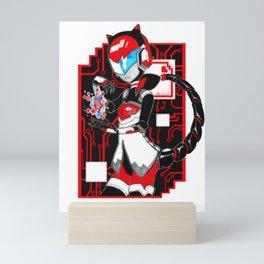 Red Data Mini Art Print