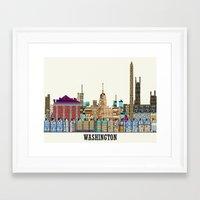 dc Framed Art Prints featuring washington dc  by bri.buckley