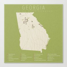 Georgia Golf Courses Canvas Print