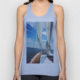 Sweet Sailing - Sailboat on the Chesapeake Bay in Annapolis, Maryland Unisex Tank Top