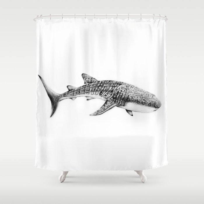 Whale Shark Shower Curtain