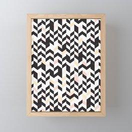 Vertically Arrows pattern black pink Framed Mini Art Print