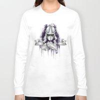 ninja turtle Long Sleeve T-shirts featuring Shredder -Teenage Mutant Ninja Turtle by Roe Mesquita
