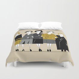 Meet the Bright Young Sisters Duvet Cover