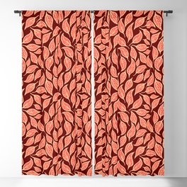 V.09 - Striated Leaves - Warm Tones Blackout Curtain