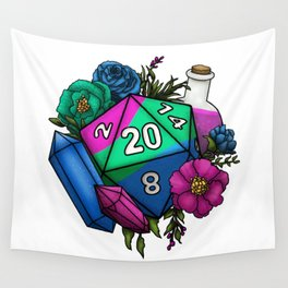 Pride Polysexual D20 Tabletop RPG Gaming Dice Wall Tapestry