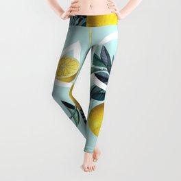 Geometric and Lemon pattern III Leggings