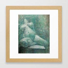 Female, Nude (Erased) Framed Art Print