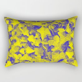 YELLOW BLUE IVY Rectangular Pillow