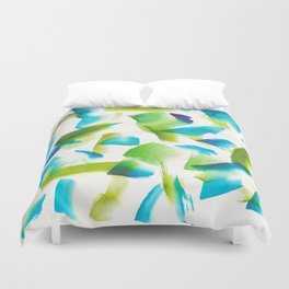 180719 Koh-I-Noor Watercolour Abstract 28  Watercolor Brush Strokes Duvet Cover