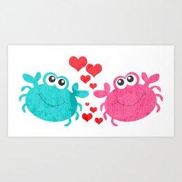 Love Crab Art Print