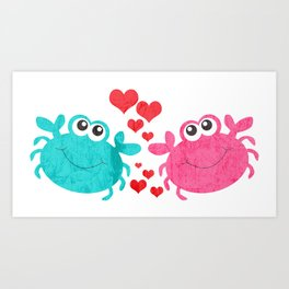 Love Crab Art Print