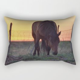 Wild Mustang at the end of the day Rectangular Pillow