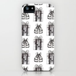 Black And White Christmas Objects Decor iPhone Case