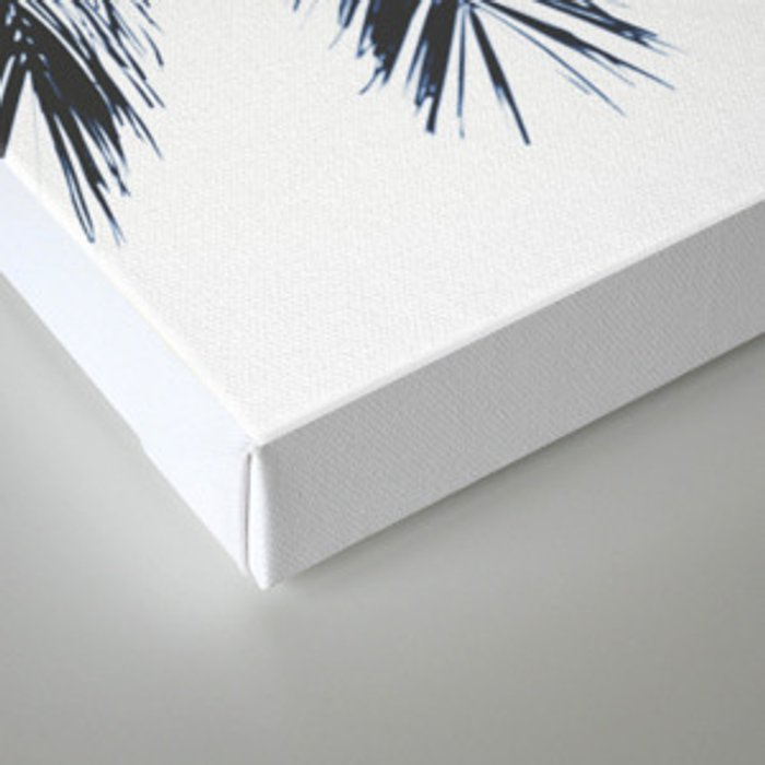 Palm Tree leaves abstract Canvas Print