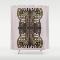 gore Shower Curtains featuring Gore by Smokacinno