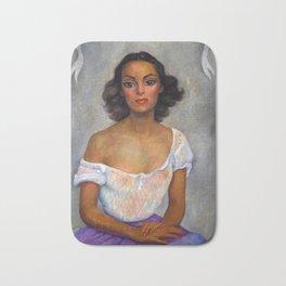 1938 Classical Masterpiece 'Dolores Del Rio' by Diego Rivera Bath Mat