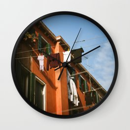 Venice, Italy Clothes Hanging Wall Clock