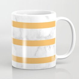marble horizontal stripe pattern yellow Coffee Mug