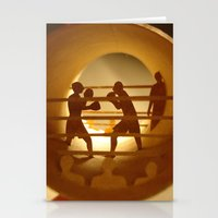 boxing Stationery Cards featuring Boxing (Boxe) by Anastassia Elias
