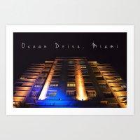 OCEAN DRIVE, MIAMI Art Print
