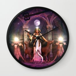 Keeper of the Flame- HEKATE Wall Clock