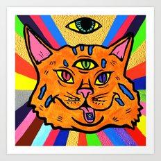 Cat Trip  Art Print
