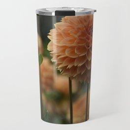 Orange Dahlia Travel Mug