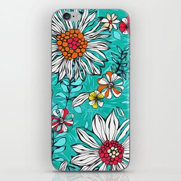 White daisies iPhone Skin