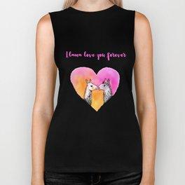Llama love you forever Biker Tank