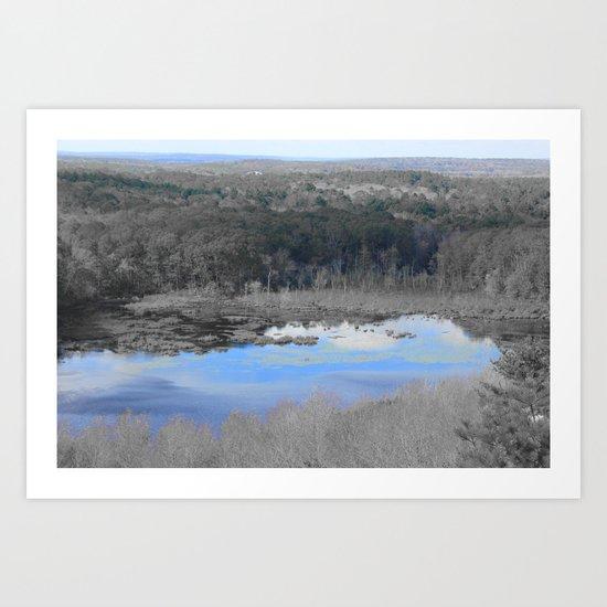 Splash of blue 2  Art Print