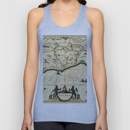 Map Of Guinea 1638 Unisex Tank Top